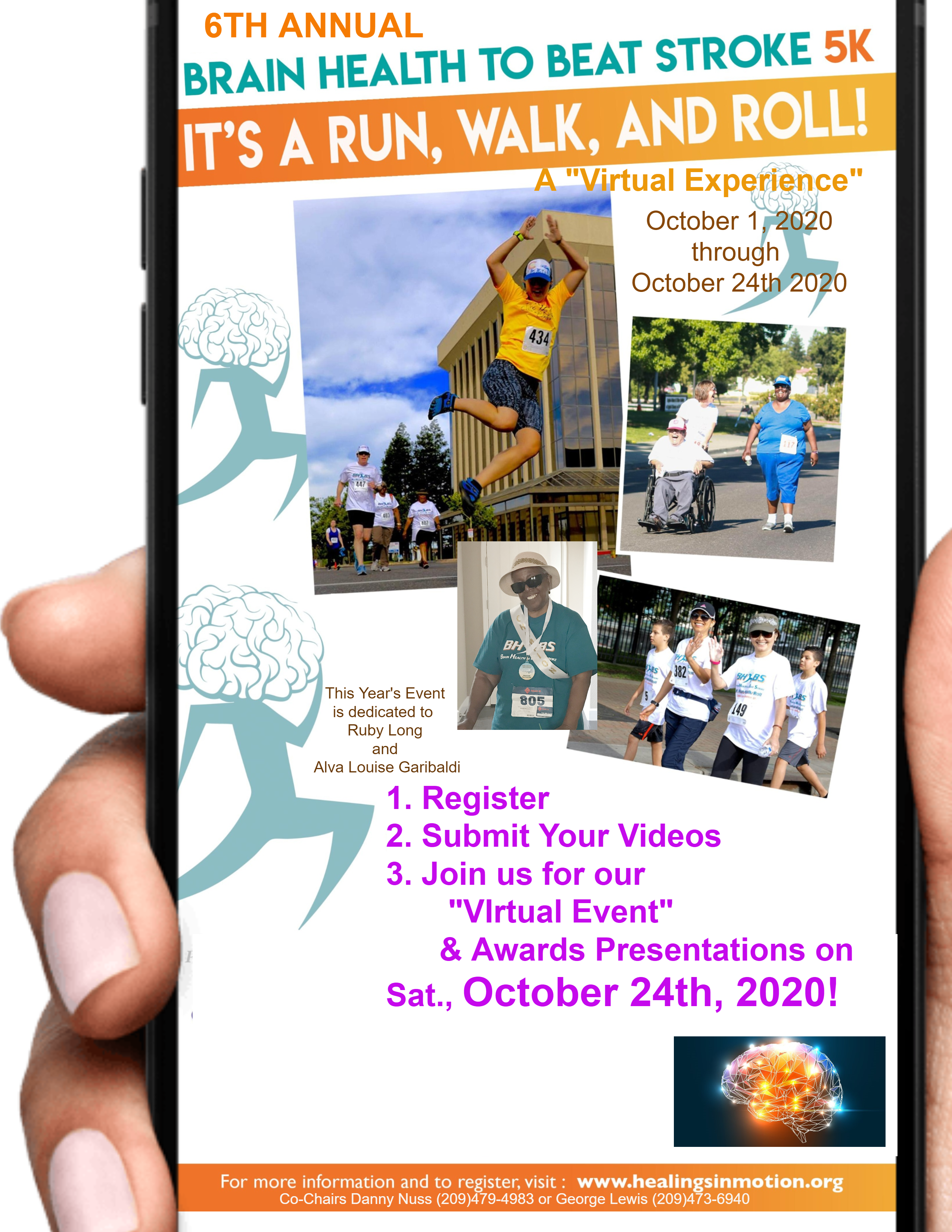 6th Annual Brain Health to Beat Stroke 5K flyer
