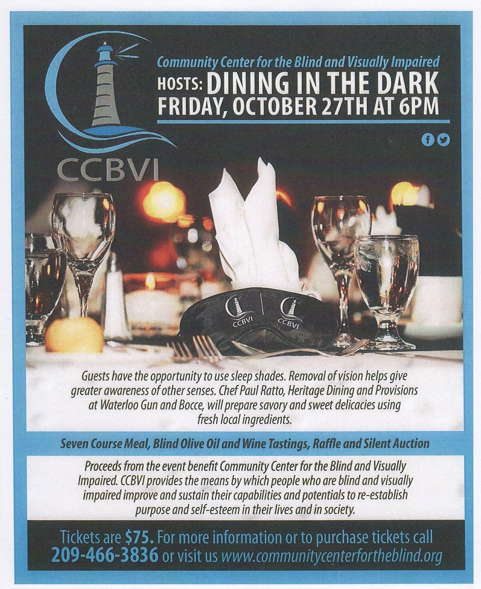 Image of the Dining In The Dark flyer